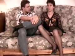 hairy mature analfucked in stockings