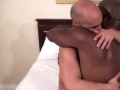 black dad fucks white guy