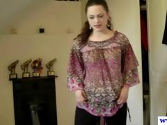 brittish amateur masturbating her pussy