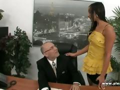 old boss bonks juvenile sexy secretary