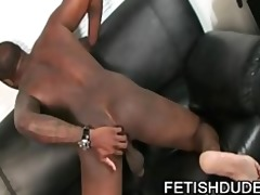 hole hunter - cute white guy licking an old dark