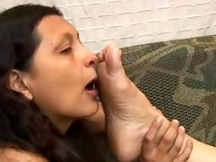 sniffing old stinky feet