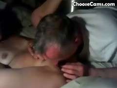 grandpa giving grandma great oral sex