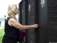 granny gets nailed in the changing room