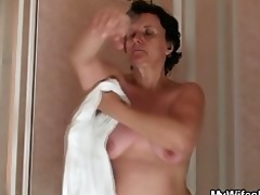 sexually excited man bangs his mother in law
