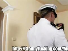 granny takes a dick deep inside