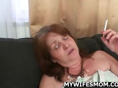 granny rides cock till her daughter comes in