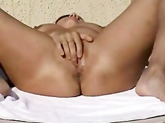 non-professional couple masturbation and fuck on