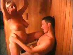 drilled in sauna - non-professional sex movie