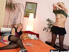 two mama dilettante milfs lesbo st time video