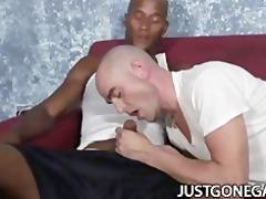 white dude worships large black jock