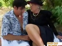 picnic with british granny and juvenile guy