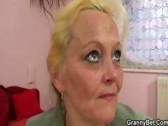 stranger nails her old hairy slit