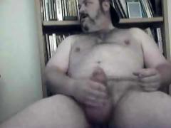 shaggy large dad bear jerking it is