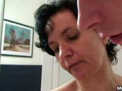 son-in-law drills her old hairy cum-hole