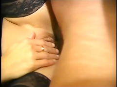 older woman goes after three-some young cock -