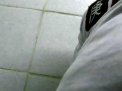 dad in bathroom