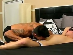 fantastic gay scene muscled daddy collin enjoys