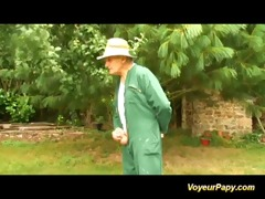 orgy in nature with voyeur papy