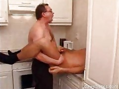 man in glasses ass fucking his younger ally in