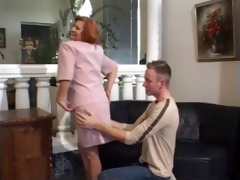 older woman suck and copulates younger guy