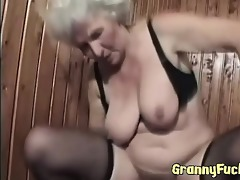 real lewd granny copulates younger guy