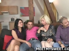 mature dad and mommy bang their sons gf