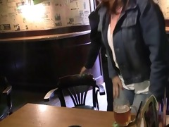 busty mature whore is picked up in the bar and