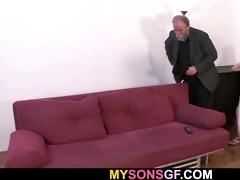 she is acquires punished and drilled by geezer