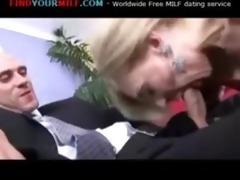 older lady gets fucked hard