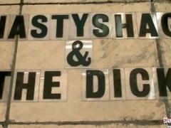 busty nastyshag takes darksome cock
