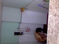 my sister take bath