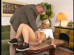 old manage takes advantage of a young student -