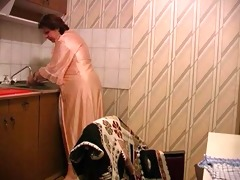 old honeys screwed in the kitchen by youngster