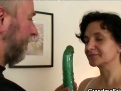 after cookie toying granny whore takes cocks