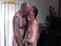 tattooed daddy cock feeding frenzy