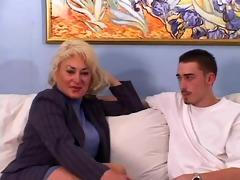 mature tit dana likes his juvenile cock and cum