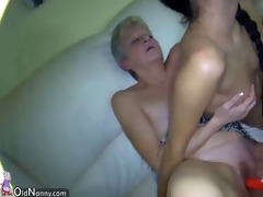 slim lesbian wrinkled grannies fucking with