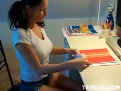 naughty school girl allows her private teacher