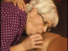 mature woman keeps up with the younger man