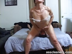 young guy is hungry over an oldie mistress dirty