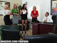 business meeting turns into some hardcore office