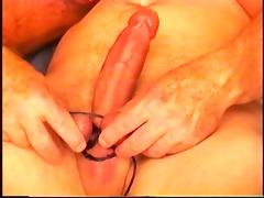 young hunky stud acquires his balls worked over