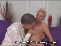 mature spouse invites young dude to fuck