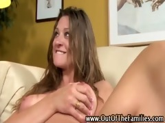 cumshot for step babe after fresh daddy fucking