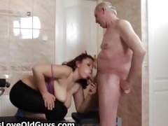 lewd granddad loves having sex with cute part4