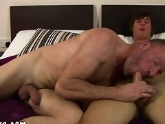 aged guy tasting fresh sweet young schlong for