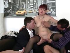 office slut swallows dicks