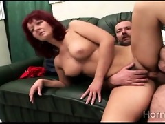 sexually excited redhead milf acquires smashed by