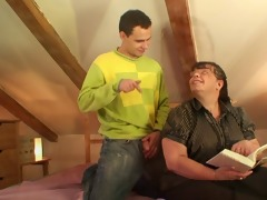 large titted mature lady is banged by an juvenile